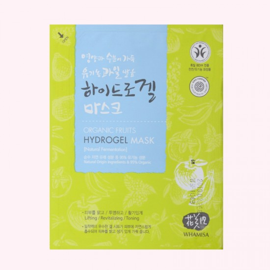 WHAMISA Organic Fruits Hydrogel Mask...